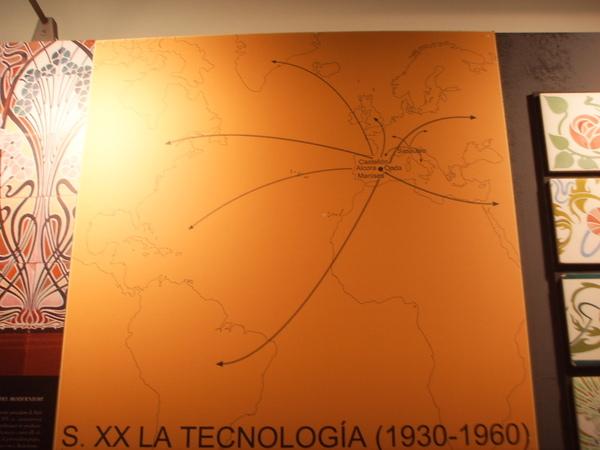 近世代磁磚技術分布圖