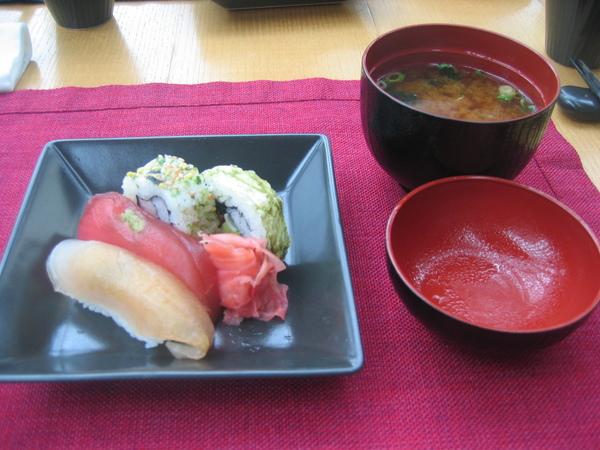 壽司+日本道地味噌湯