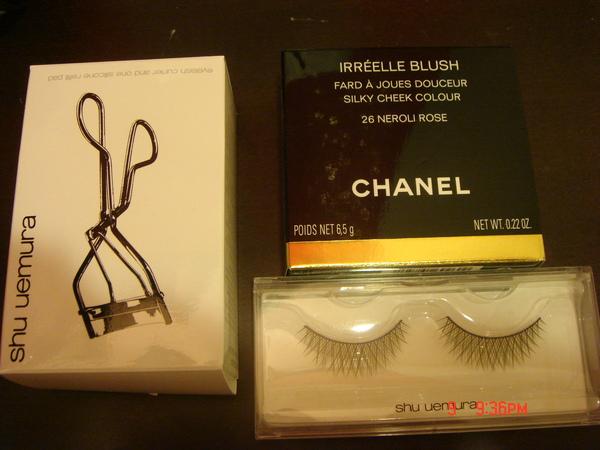 Shu uemura睫毛夾、假睫毛(奢華)、CHANEL腮紅