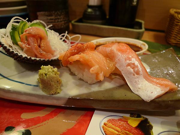 忘了是什麼貝、鮭魚肚