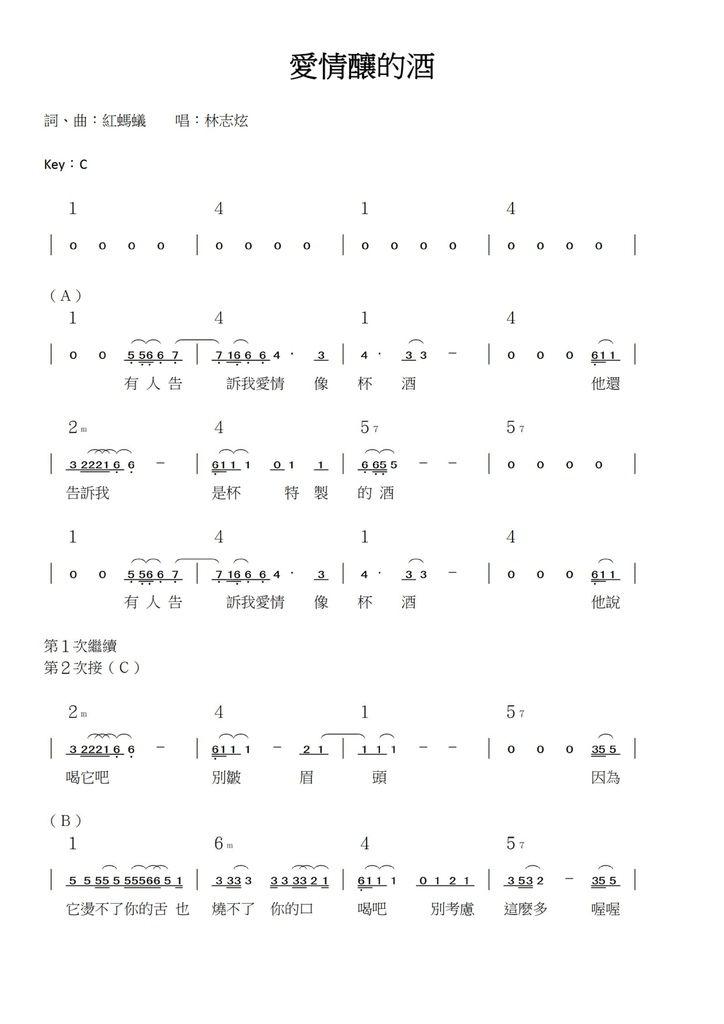 愛情釀的酒(簡譜) - 01.jpg