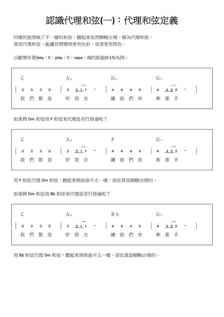 認識代理和弦(一):代理和弦定義 - 01.jpg
