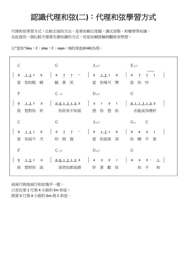 認識代理和弦(二):代理和弦學習方式 - 01.jpg
