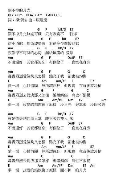 關不掉的月光_瘐澄慶