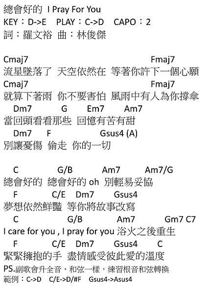 總會好的 I Pray For You_林俊傑