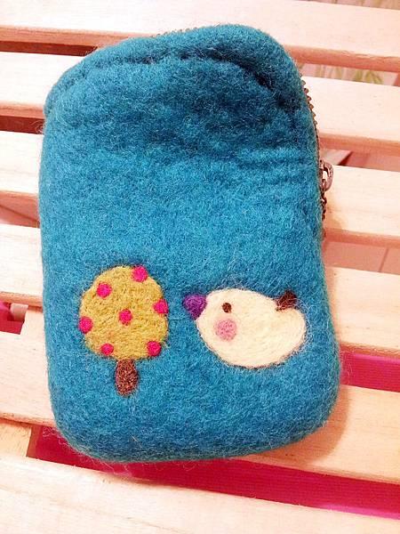 小鳥與蘋果樹羊毛氈零錢包NT500.jpg