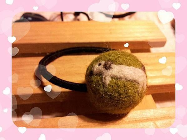 羊毛氈髮球~臘腸狗NT150元.jpg