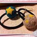 星星,圓點點羊毛氈髮束 NT100~200.jpg