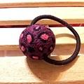 酒紅加桃紅豹紋髮球NT180.jpg