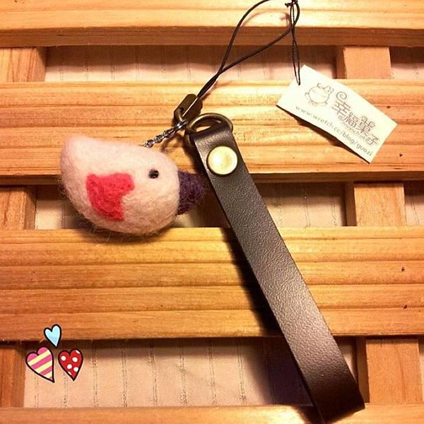 小鳥羊毛氈手機吊飾NT200.jpg