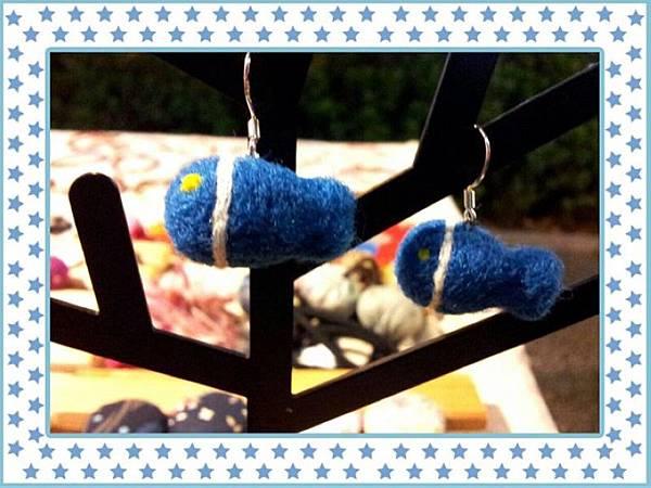 魚羊毛氈耳環~純銀NT200.jpg