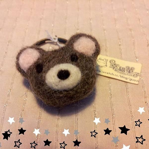 熊熊羊毛氈鑰匙圈NT200.jpg