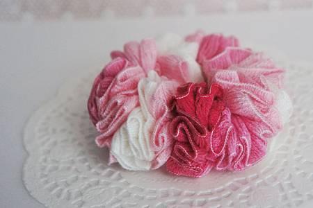 粉紅色漸層髮束