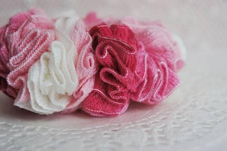 粉紅色漸層髮束特寫
