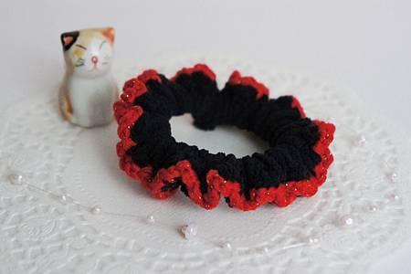 黑色紅邊髮束(小) NT80.jpg