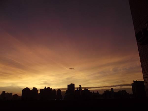 菲特颱風影響窗外小風景
