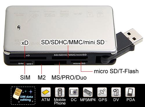 J-Power ATM晶片& SIM卡 63合1多功能讀卡機 (CS-623)