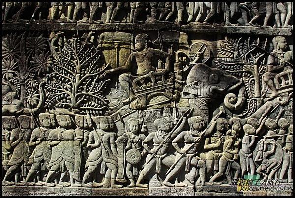 【大吳哥Angkor Thom 】_軍隊行軍浮雕.jpg