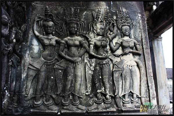 【小吳哥Angkor Wat 】不同的Apsaras阿普沙拉仙女.jpg