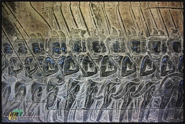 【小吳哥Angkor Wat 】浮雕-軍隊.jpg