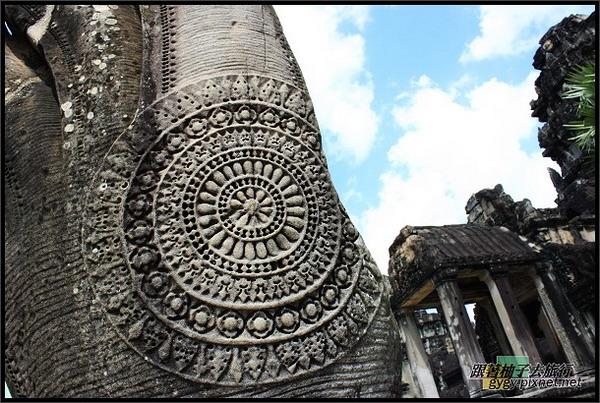 【小吳哥Angkor Wat 】蛇欄杆美麗的圖案.jpg