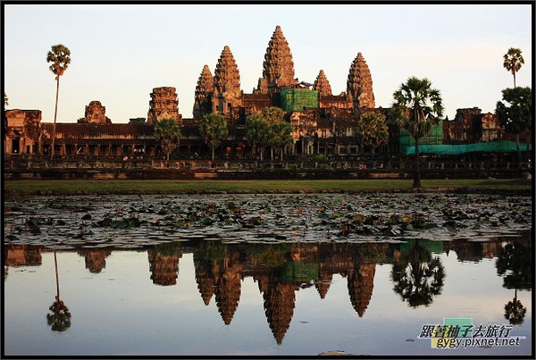 【小吳哥Angkor Wat 】黃昏倒影.jpg