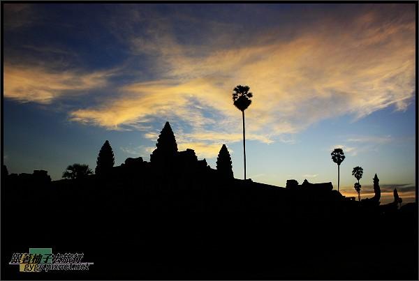 【小吳哥Angkor Wat 】黃昏剪影1.jpg