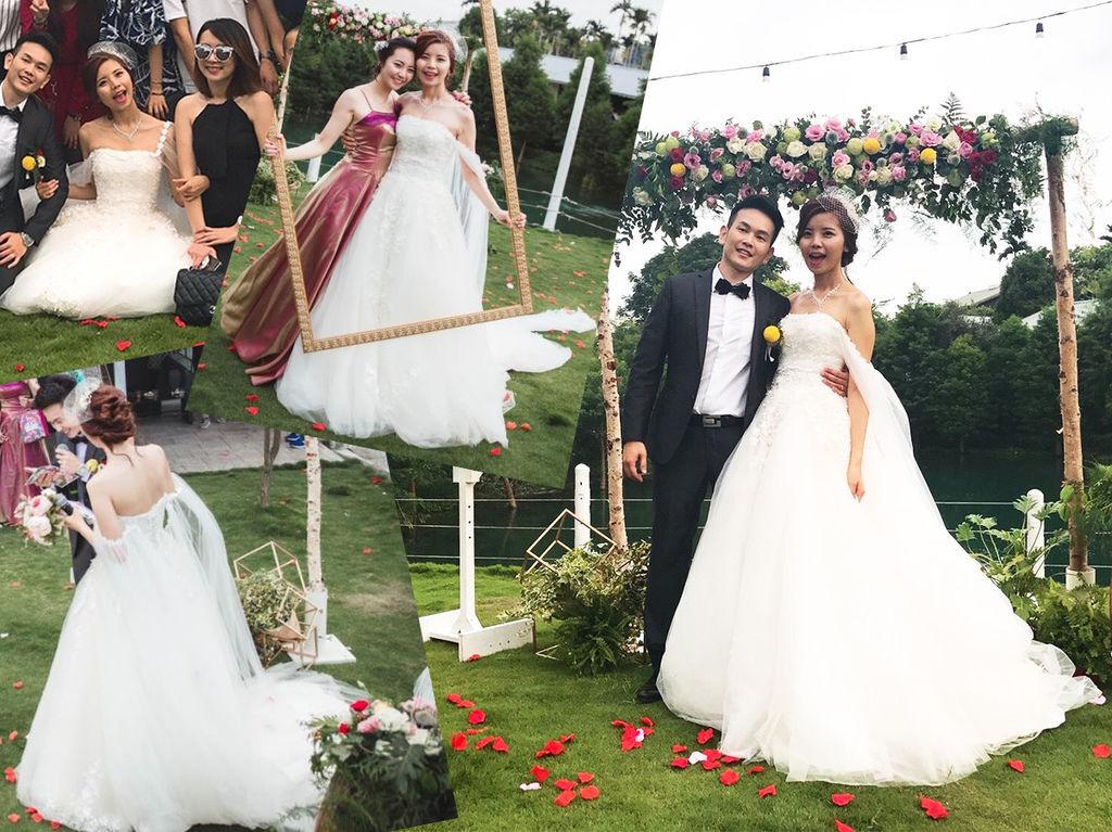 二手禮服婚紗販賣 證婚進場白紗長拖尾.jpg
