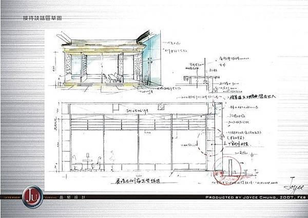 展場談話區設計草圖