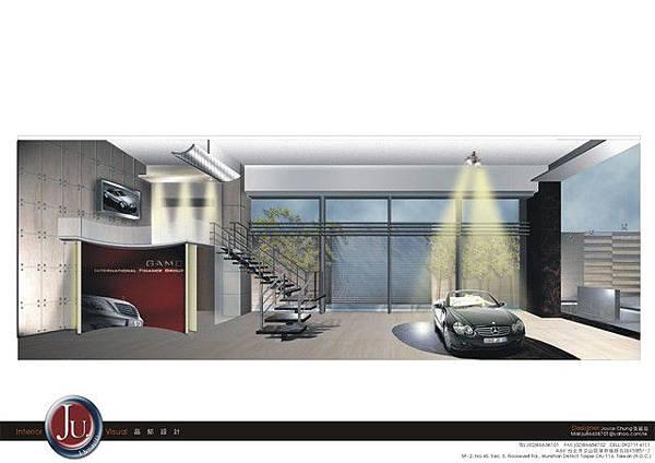 展場大廳3D場景模擬