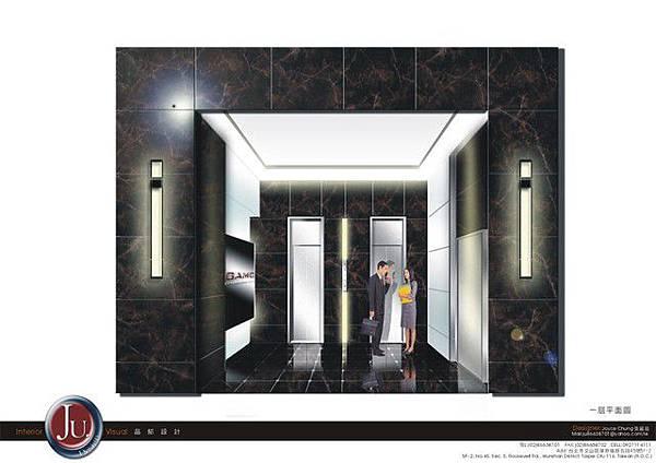 梯廳3D場景模擬
