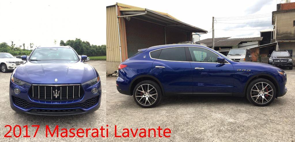 2017 Maserati Lavante 車長5003mm、車寬2158mm、車高1679mm、軸距3004mm、車重2109kg