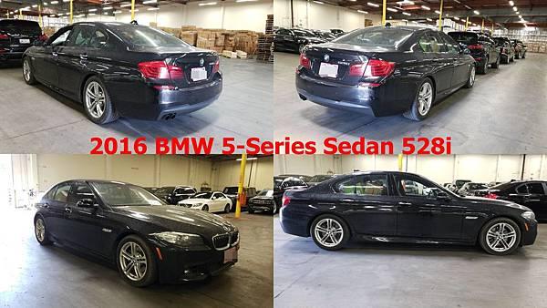 2016 BMW 5-Series Sedan 528i 車身座位 四門五人座 性能數據 245hp@5000rpm 35.7kgm@1250pm 變速系統 8速手自排 能量消耗 市區9.06km/ltr、高速16.42km/ltr 平均12.7km/ltr 引擎形式 直列四缸、DOHC雙凸輪軸、渦輪增壓、16氣門 排氣量 1997c.c.