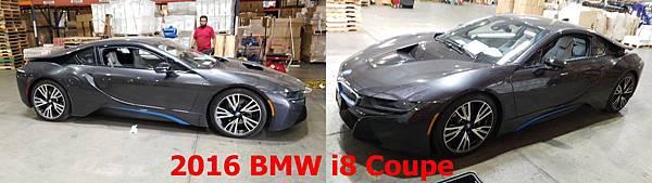 2016 BMW i8 Coupe用Plug-in Hybrid技術傲視車壇,位於車尾的1.5升BMW TwinPower Turbo三缸渦輪增壓汽油引擎,加上至於車頭的一具電動馬達,搭配上CFRP製成的輕量化車體,達到0至100km/h只需要4.4秒的超強性能。