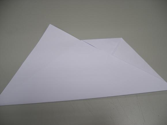 3將右邊上方三角處提起往下沿線摺成倒三角形.jpg