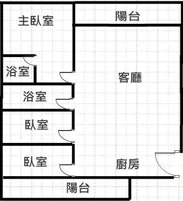 後火車站高投報公寓格局圖