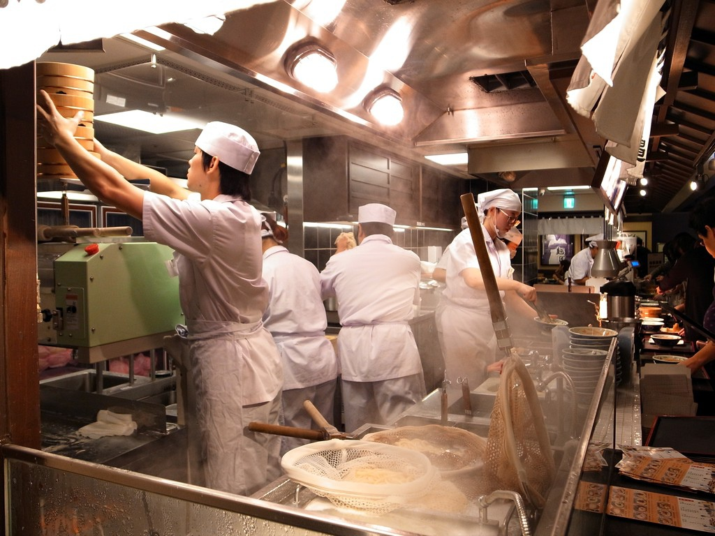 烏龍麵製造過程
