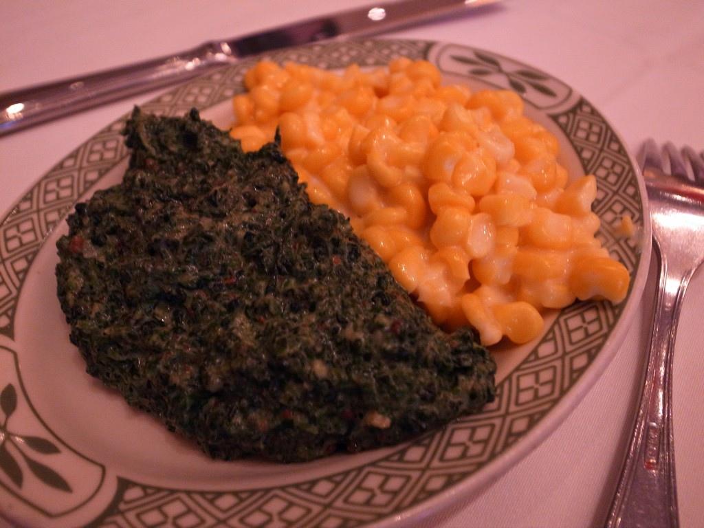 奶油玉米及菠菜