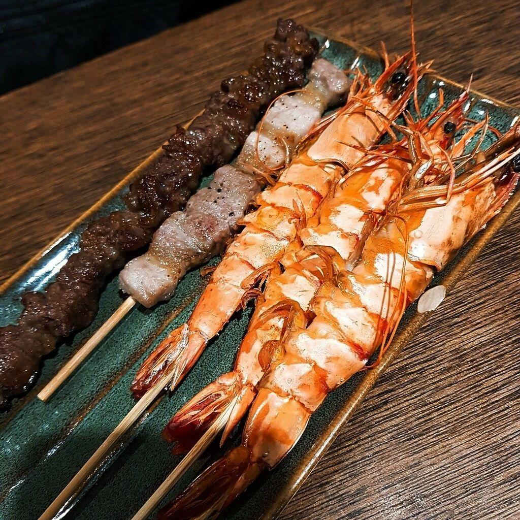 串燒烤大蝦