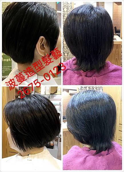 自然捲加髮量超多的短髮造型