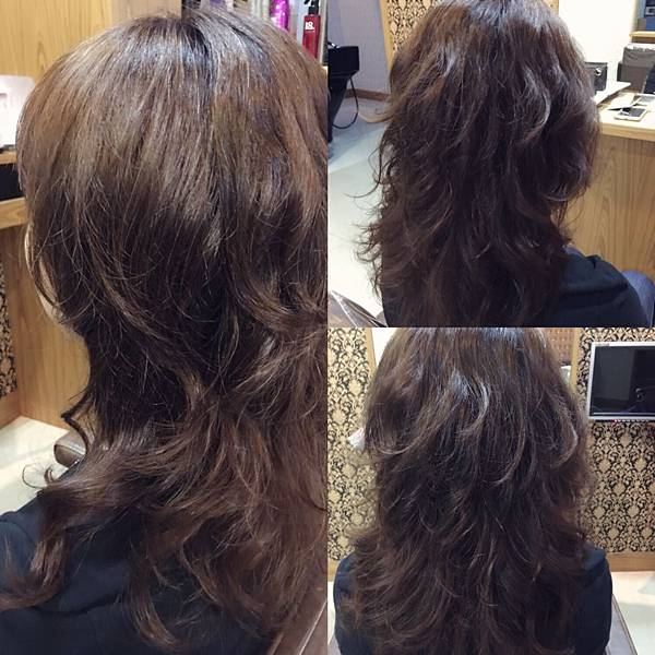 燙完後髮型及髮質