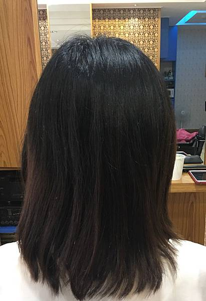 剪髮前髮況