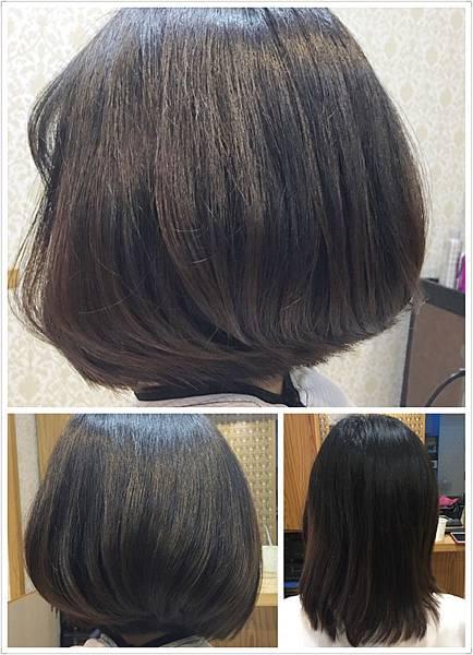 剪髮造型後