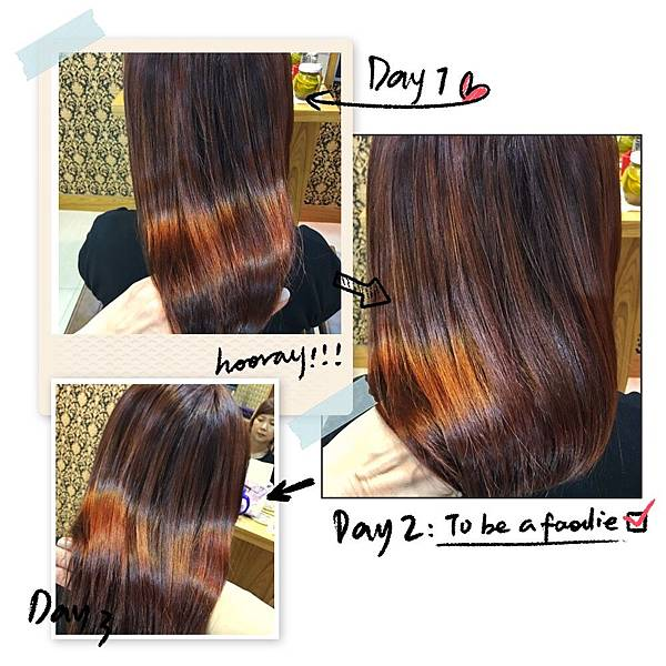 造型後髮色及髮況
