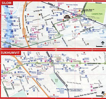 Bangkok Silom and Sukhumvit map