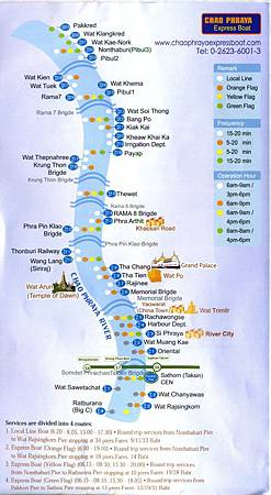 Chao Pharaya Stations Route