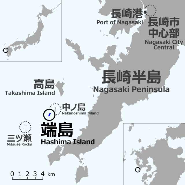 Nagasaki_Hashima_location_map