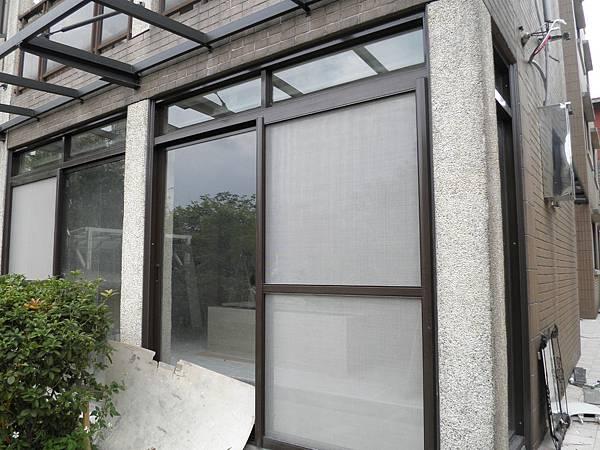 正新原廠PL192新型隔音落地窗-2拉窗兩組-深咖啡粉體色