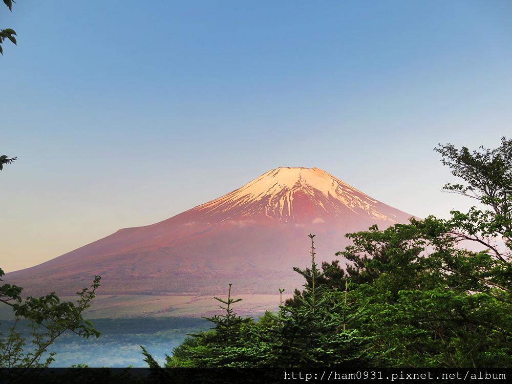 清晨赤富士