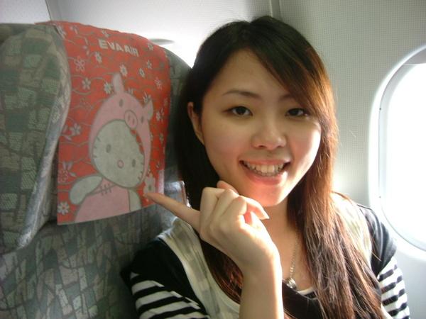 飛機上的KITTY椅頭套